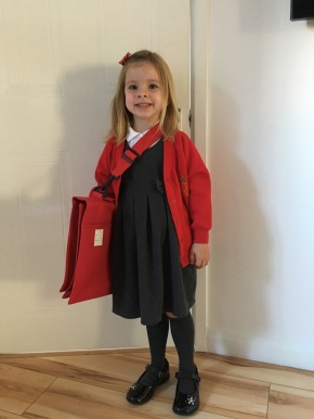 Our little schoolgirl!