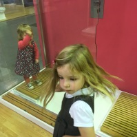 The girls had a great time exploring Wickes showroom!